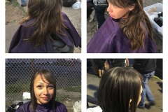 Before an After Photos of Homeless Women Haircut