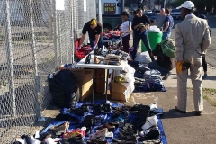 Some of the shoes and sneakers donated for the Streets of Hope San Diego