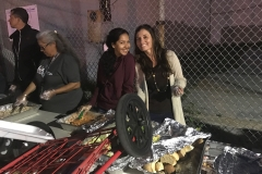 Venice and Marta love feeding the homeless downtown.