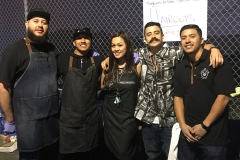 The amazing homeless hair cutting team: Eric, Wylie, Tammy, Mario, Jose