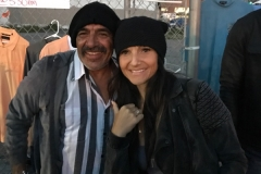 Alex and Theresa hanging out at the Streets of Hope San Diego homeless event