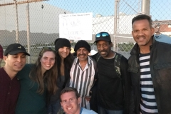 Carlos, Jenn, Theresa, Alex, Rodney, Andre and Tim at the homeless event in downtown San Diego