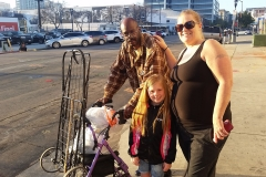 Rebecca and Aryana gave homeless man Rodney their recently passed grandmother's stroller!