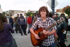 Go Jeffery! Just before he led the San Diego homeless in worship.