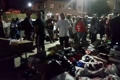 Almost ready to pass out hundreds of clothing items to San Diego's homeless.