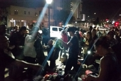 Streets of Hope San Diego passing out clothing donation to the homeless.