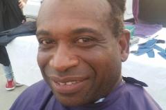 #2 - Homeless man BEFORE his haircut