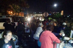 Serving San Diego's homeless food on Thanksgiving 2015.