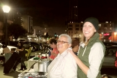 Christina and Anne all smiles as the Streets of Hope host its annual Thanksgiving homeless event.