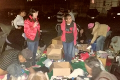 Many of the clothing donations the Streets of Hope San Diego gave to the homeless on our Thanksgiving event.