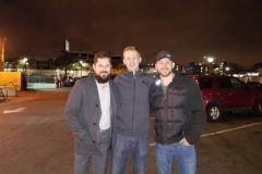 Alex, Dan and Peter, all smiles after serving the homeless in San Diego.