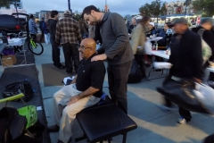 Dr. Eric gives a homeless man a chiropractic adjustment on Easter.