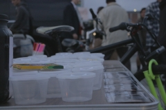 The Lids of Encouragement table for San Diego's homeless.