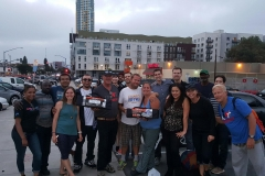 A few of the Streets of Hope team with homeless Guy, Brian and Lori after we gave them two tents.