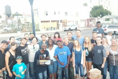 The Streets of Hope San Diego volunteers who came out tonight to feed the homeless.