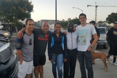 Carlos, Paul, Kiesha, Conrad and Charlie after a great night of feeding the homeless.