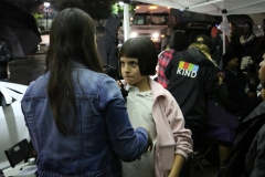 Homeless girl Angel has her hair cut by Tammy.