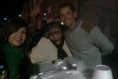Getting ready to feed the homeless for Christmas downtown.