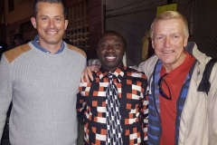 Jess, Conrad and our homeless friend Mark at our Christmas event.