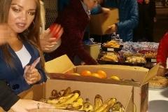 Fresh fruit and a full Christmas ham dinner was served when feeding the homeless on Christmas.
