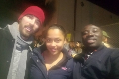 Joe, Keshia and Conrad are superstars feeding and clothing the homeless at our Christmas event!