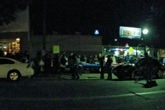 A view from across the street at our homeless San Diego event.
