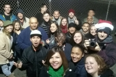Just some of our the volunteers feeding the homeless tonight in downtown San Diego.
