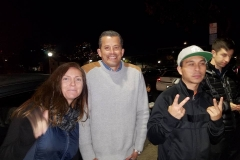 Peace on the streets to the homeless from Tammy, Jess and Carlos