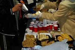The food line at our Christmas homeless event.
