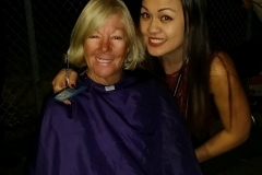 Tammy just cut Shelia's hair, look at those smiles!