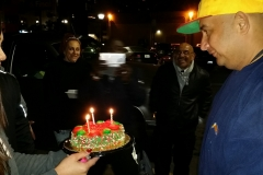 Birthday cake for our homeless friend David.