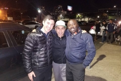 Lyle, Carlos and Conrad out on the streets for our Christmas event serving the homeless.
