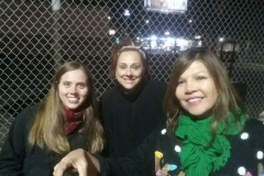 Jenn, Jackie and Emma helping the homeless on Christmas.