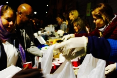 The food line went quick as we served over 150 homeless at our Christmas event.