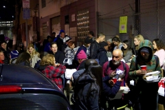 Over 150 homeless people eat a hot meal at our Christmas event.