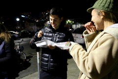 Lyle eats along with the homeless at our Christmas event.