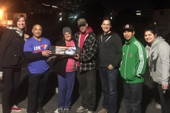 The Streets of Hope San Diego Team gives a tent to a homeless pregnant woman and her husband.