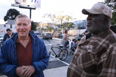 Mark and Milton, two San Diego homeless men, enjoy the Streets of Hope Easter Event