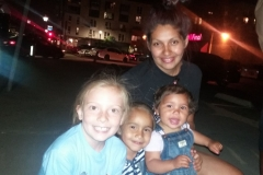 Mom Maria, with little Stephanie & Brianna had so much fun playing with Aryana, our 8yr old volunteer street prayer warrior.
