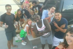 Our main man Conrad and his team of food preparers getting ready to feed the homeless on 9/11.