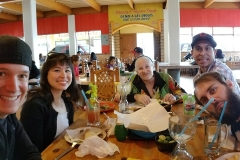 Lunch in Tijuana with Dan, Leslie, Diane, Carlos and Nate after visiting the vet in Tijuana to pick up Giselle's ashes.