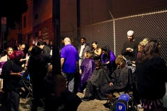 The homeless hair cutting team is in full swing during our homeless Thanksgiving event
