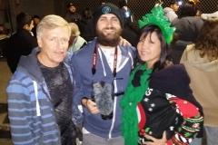 Mark, Nate and Emma help feed the homeless on Christmas.