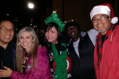 What a great night being downtown with the homeless on Christmas.