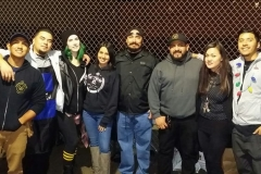 Special thanks to our amazing hair cutting team downtown San Diego cutting the homeless hair for Christmas!