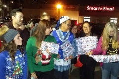 Getting excited to give gifts to the homeless kids on Christmas