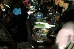 Our food line on the streets of San Diego downtown. The homeless were served a hot meal on Christmas.