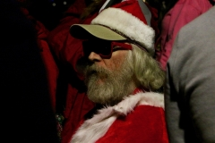 Santa had his cool sun glasses on while serving the homeless on Christmas