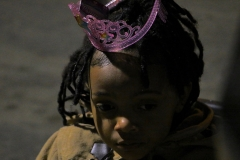 Christiana, a little homeless girl, on Christmas in downtown San Diego.