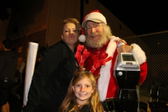 Rebecca, Santa and Aryana serving the homeless on Christmas